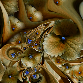 PATTERN by Carmen Velcic - Digital Art Abstract ( fantasy, abstract, blue, brown, digital )