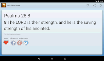 Screenshot of Daily Bible Verse