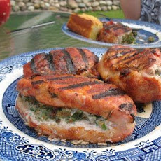 Herb Stuffed Pork Chops with