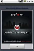 Screenshot of Infor Mobile Citizen Request