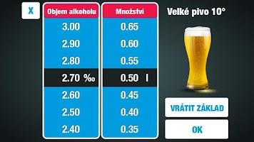Screenshot of Alkohol kalkulačka