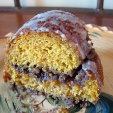 Pumpkin and Spice Sour Cream Coffee Cake