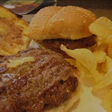 Cheddar-Stuffed Buffalo Burgers