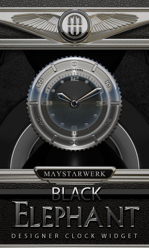 Clock Widget Black Elephant Screenshot 0