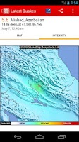 Screenshot of Latest Quakes