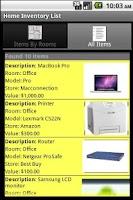 Screenshot of Home Inventory Organizer Lite