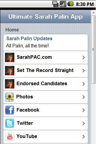 Ultimate Sarah Palin App