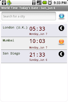 Screenshot of World Time