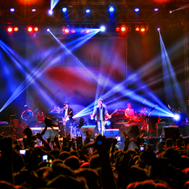 Live concert by Dany Fachry - News & Events Entertainment ( people, crowd, humanity, society )