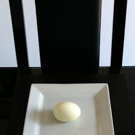 Breakfast by Ian Pinn - Food & Drink Plated Food ( chair, eg, plate, white, boiled, stripe, black )