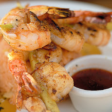 Lemon Grass Skewered Shrimp