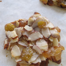 Almond, Cherry and Ginger Florentines