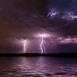 Storm at the lake by Craig Eccles - News & Events Weather & Storms ( thunder, lightning strike, news, storm, lightning, sky, lightning bolt., event, cloud, thunder and lightning, weather, thunder storm, thunder bolt )