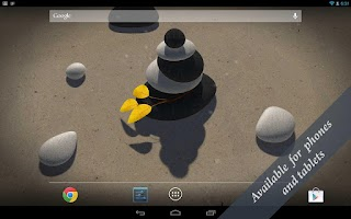 Screenshot of 3D Zen Stones Live Wallpaper