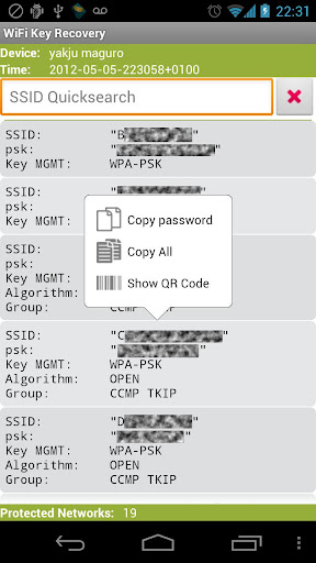 Download WiFi Key Recovery (needs root) for PC