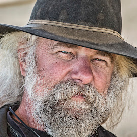 Old West Fellow by Sue Matsunaga - People Portraits of Men