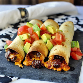 Low Fat Smokey Barbeque Steak and Cheddar Taquitos