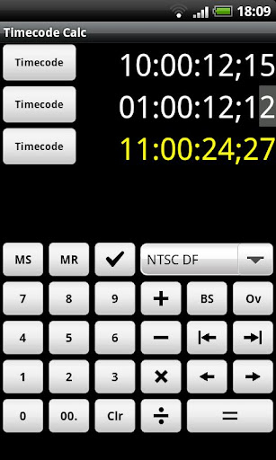 Timecode Calculator