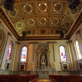 Cathedral Basilica of St. Joseph 2 by Sanjib Paul - Buildings & Architecture Places of Worship ( interior, church, san jose, jesus, christ, cathedral, worship, basilica )