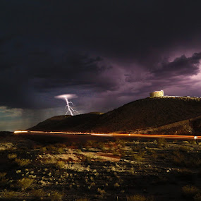 lightning strikes by Chuck Holton - Landscapes Weather