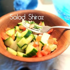 Salad Shiraz (Persian Tomato and Cucumber salad)