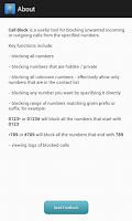 Screenshot of Call Block - number blacklist