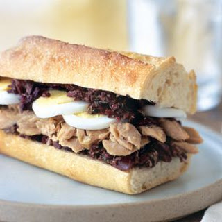 Albacore Tuna, Hard-Cooked Egg and Tapenade Sandwiches