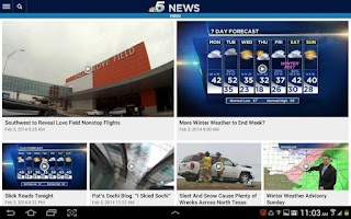 Screenshot of NBC DFW