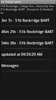 Screenshot of AC Transit Alerts