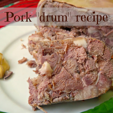 Pork Drum With Liver, Tongue And Rind