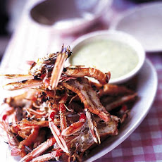 Barbecued Langoustines With Aioli