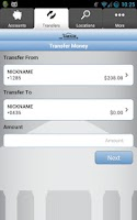Screenshot of Timberline Mobile Banking