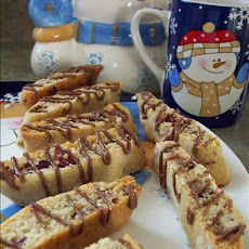 Cranberry White Chocolate Biscotti