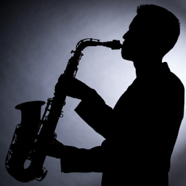 Saxophonist by Nikola  Pejcic - People Musicians & Entertainers ( studio, flashlight, backlight, saxophone, men )