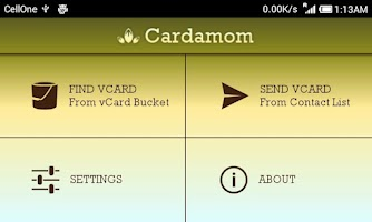 Screenshot of Cardamom : Send vCards via SMS