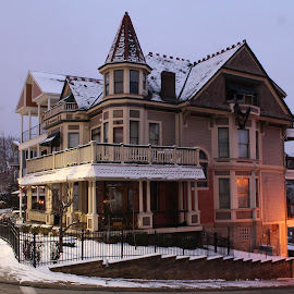 Victorian House by Tina Marie - Buildings & Architecture Homes ( old house, mt washington, pittsburgh pennsylvania, winter scene, winter, pittsburgh, buildings, victorian, house )