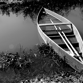 Wait for me by Gil Reis - Transportation Boats ( water, explore, nature, boats, places, lagoons, rivers,  )