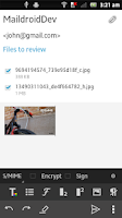Screenshot of MailDroid - Email Application