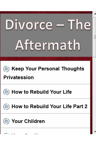 Divorce - The Aftermath