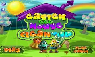 Screenshot of Egg House Cleanup Game