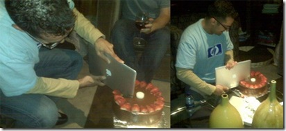 sood-cutting-cake-with-macbook-air