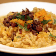 Risotto with Butternut Squash and Leeks