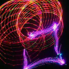 Slinky lock ! by Jim Barton - Abstract Patterns ( slinky, laser light, colorful, light design, lock, laser design, laser, light, science )