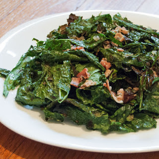 Grilled Kale Salad With Warm Bacon Vinaigrette
