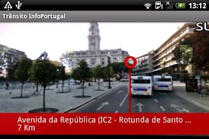 Screenshot of Trânsito InfoPortugal