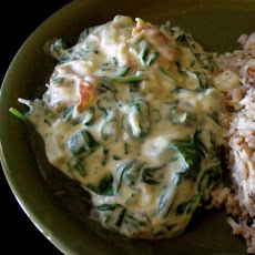 Creamed Lemon Spinach