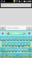 Screenshot of GO Keyboard Sunshine theme