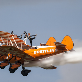 Barnstorming by Tommy  Cochrane - Transportation Airplanes ( plane, airshow., bi, wingwalking, breiting )