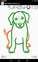 Screenshot of Learn to Draw Dogs and Puppies