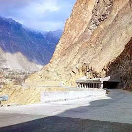 Great Karakuram Highway,Gilgit Pakistan by Riaz Paras - Digital Art Places ( mountains, karakuram highway, karakoram, paras, digital arts )